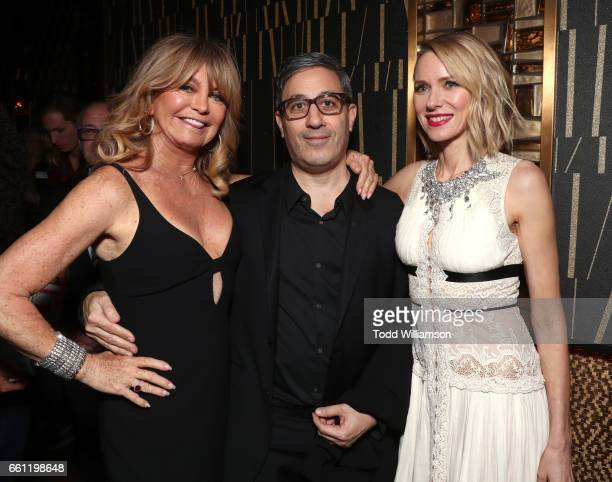 Actress/producer Goldie Hawn producer Jason Weinberg and actress/producer Naomi Watts at the CinemaCon Big Screen Achievement Awards brought to you...