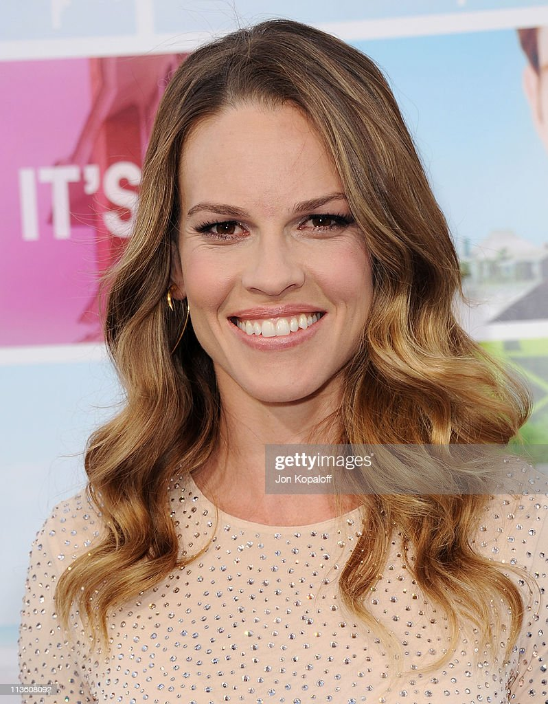 Actress/Producer Hilary Swank arrives at the Los Angeles Premiere 'Something Borrowed' at Grauman's Chinese Theatre on May 3 2011 in Hollywood...