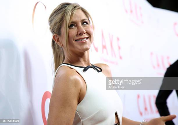 Actress/producer Jennifer Aniston attends the Los Angeles Premiere Of 'CAKE' at ArcLight Hollywood on January 14 2015 in Hollywood California