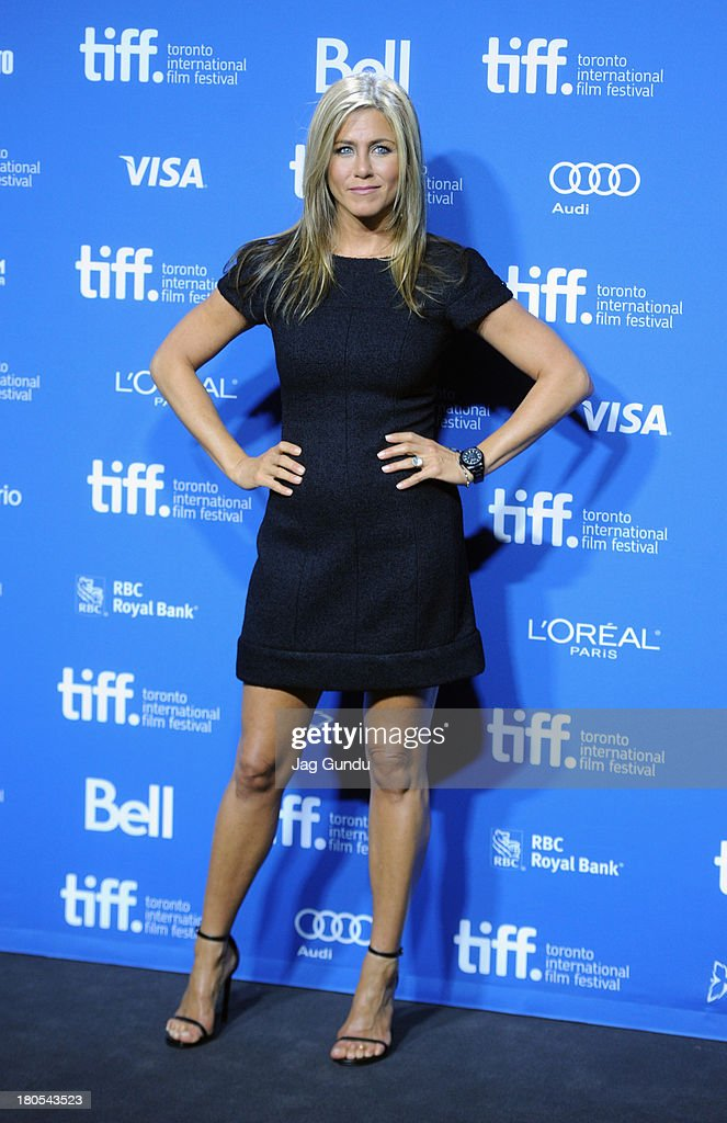 Actress/Producer <a gi-track='captionPersonalityLinkClicked' href=/galleries/search?phrase=Jennifer+Aniston&family=editorial&specificpeople=202048 ng-click='$event.stopPropagation()'>Jennifer Aniston</a> poses onstage at the 'Life Of Crime' Press Conference during the 2013 Toronto International Film Festival at TIFF Bell Lightbox on September 14, 2013 in Toronto, Canada.