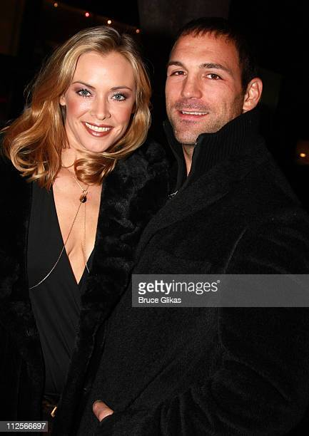Actress/Producer Kristanna Loken and boyfriend Actor Noah Danby pose as they arrive for The Premiere of her new film 'Lime Salted Love' at The New...