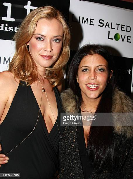 Actress/Producer Kristanna Loken and CoDirector/CoWriter Danielle Agnello pose as they arrive for The Premiere of her new film 'Lime Salted Love' at...