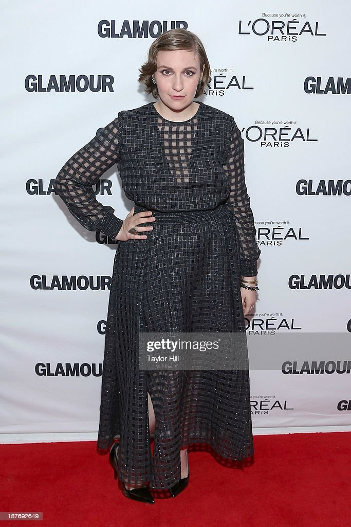Actress/producer <a gi-track='captionPersonalityLinkClicked' href=/galleries/search?phrase=Lena+Dunham&family=editorial&specificpeople=5836535 ng-click='$event.stopPropagation()'>Lena Dunham</a> attends the Glamour Magazine 23rd annual Women Of The Year gala on November 11, 2013 in New York, United States.