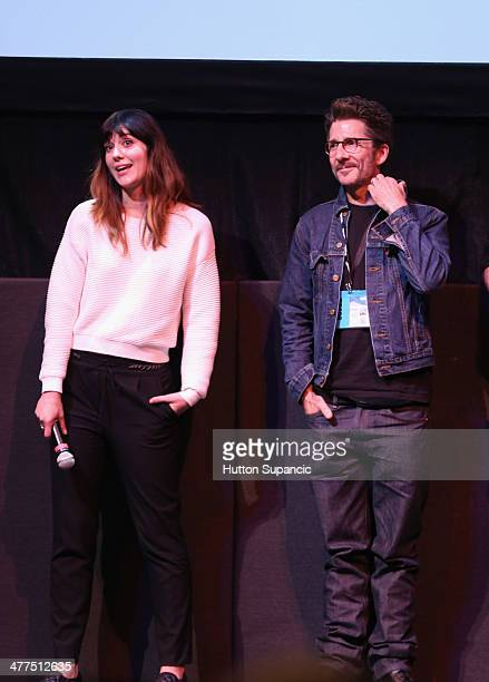 Actress/producer Mary Elizabeth Winstead and actor Leland Orser speak onstage at the 'Faults' Photo Op and QA during the 2014 SXSW Music Film...