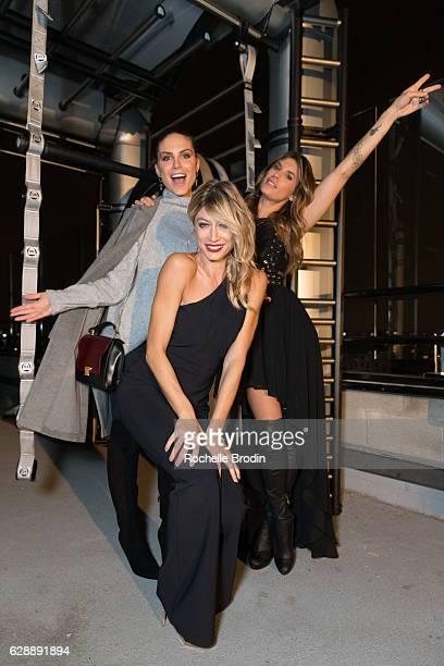 Actress/producer Nina Senicar actress/gym owner Maddalena Corvaglia and gym owner/actress Elisabetta Canalis attend Elisabetta and Maddalena For...