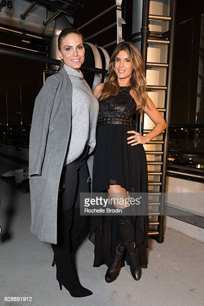 Actress/producer Nina Senicar and actress/gym owner Elisabetta Canalis attend Elisabetta and Maddalena For SkyViewLA on December 9 2016 in Los...