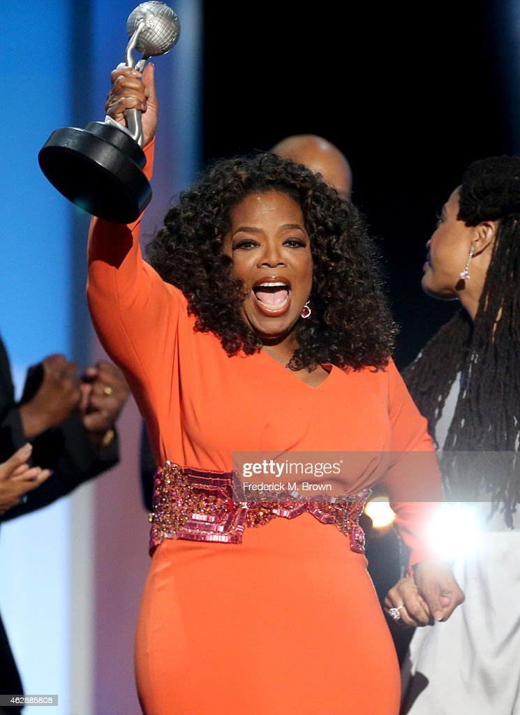 Actress/producer Oprah Winfrey accepts the award for Outstanding Motion Picture for 'Selma' onstage during the 46th NAACP Image Awards presented by...