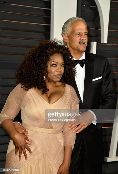 Actress/producer Oprah Winfrey and businessman Stedman Graham attend the 2015 Vanity Fair Oscar Party hosted by Graydon Carter at Wallis Annenberg...