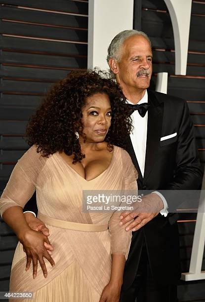 Actress/producer Oprah Winfrey and businessman Stedman Graham attend the 2015 Vanity Fair Oscar Party hosted by Graydon Carter at Wallis Annenberg...