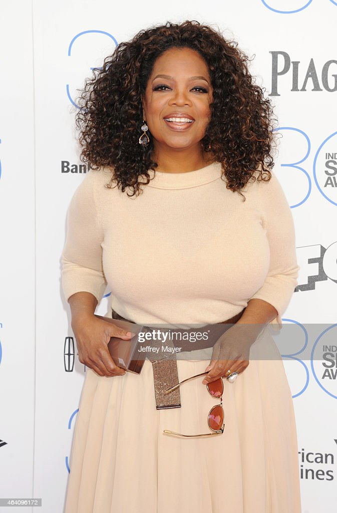Actress/producer Oprah Winfrey arrives at the 2015 Film Independent Spirit Awards on February 21 2015 in Santa Monica California