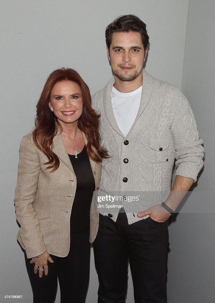 Actress/producer Roma Downey and actor Diogo Morgado attend 'Meet The Filmmakers' at Apple Store Soho on February 24 2014 in New York City