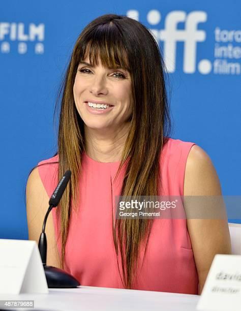 Actress/producer Sandra Bullock speaks onstage during the 'Our Brand Is Crisis' press conference at the 2015 Toronto International Film Festival at...