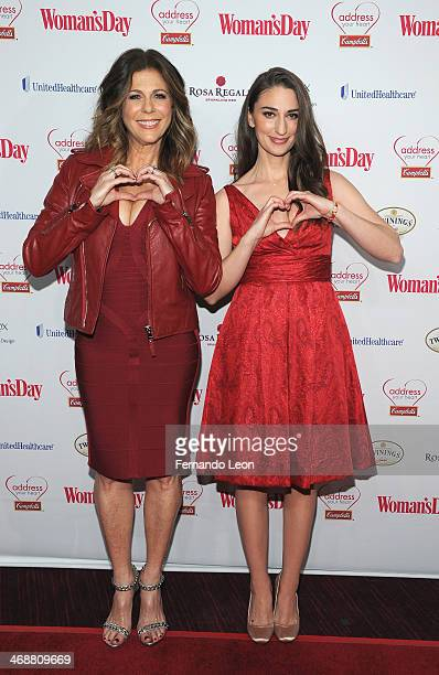 Actress/producer/writer and singer Rita Wilson and Recording artist Sara Bareilles arrive as American Heart Association celebrates the 10th Year of...