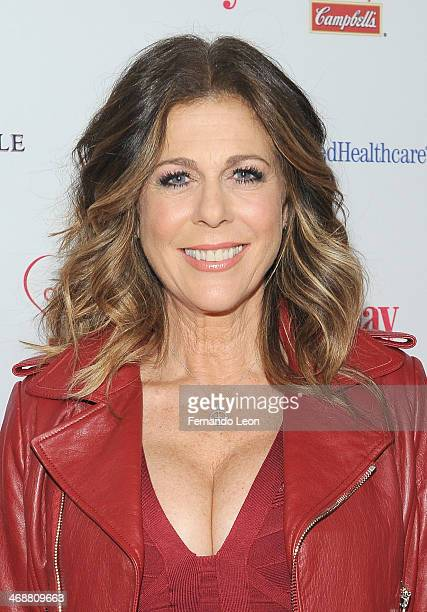 Actress/producer/writer and singer Rita Wilson arrives as American Heart Association celebrates the 10th Year of Go Red For Women at The Woman's Day...