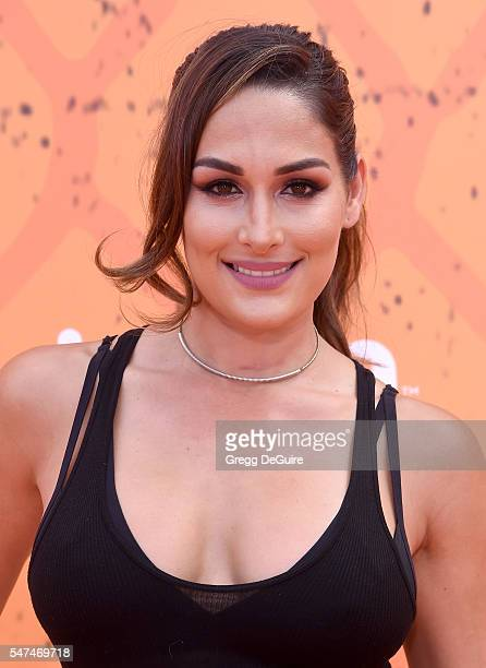 Actress/professional wrestler Nikki Bella arrives at Nickelodeon Kids' Choice Sports Awards 2016 at UCLA's Pauley Pavilion on July 14 2016 in...
