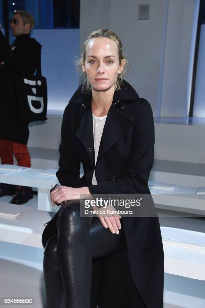 Actressr Amber Valletta attends the Calvin Klein Collection Front Row during New York Fashion Week on February 10 2017 in New York City