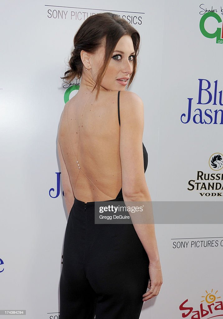 Actress/recording artist Aly Michalka arrives at the Los Angeles premiere of 'Blue Jasmine' at the Academy of Motion Picture Arts and Sciences on July 24, 2013 in Beverly Hills, California.