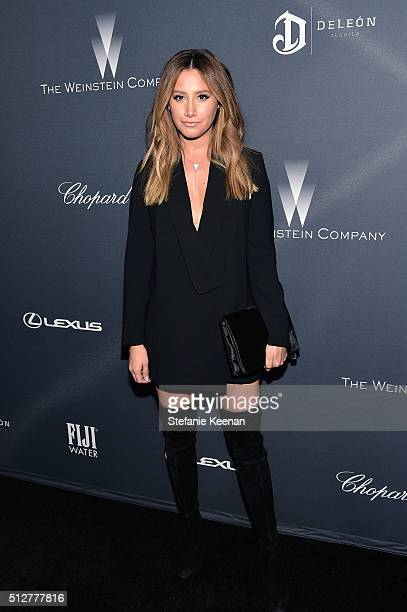 Actress/recording artist Ashley Tisdale attends The Weinstein Company's PreOscar Dinner presented in partnership with FIJI Water Chopard DeLeon and...