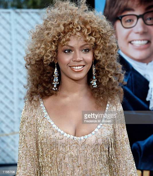Actress/recording artist Beyonce Knowles attends the film premiere of Austin Powers in Goldmember on July 22 in Los Angeles California The film opens...