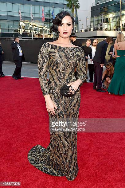 Actress/recording artist Demi Lovato attends the 2015 American Music Awards at Microsoft Theater on November 22 2015 in Los Angeles California
