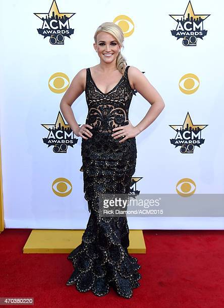 Actress/recording artist Jamie Lynn Spears attends the 50th Academy of Country Music Awards at ATT Stadium on April 19 2015 in Arlington Texas