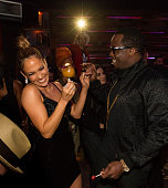 Actress/recording artist Jennifer Lopez and Sean Combs attend Jennifer Lopez's 2015 American Music Awards After Party hosted by CÎROC with Cross Pens...