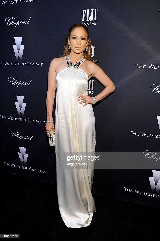 Actress/recording artist Jennifer Lopez attends The Weinstein Company's Academy Awards Nominees Dinner in partnership with Chopard, DeLeon Tequila, FIJI Water and MAC Cosmetics on February 21, 2015 in Los Angeles, California.