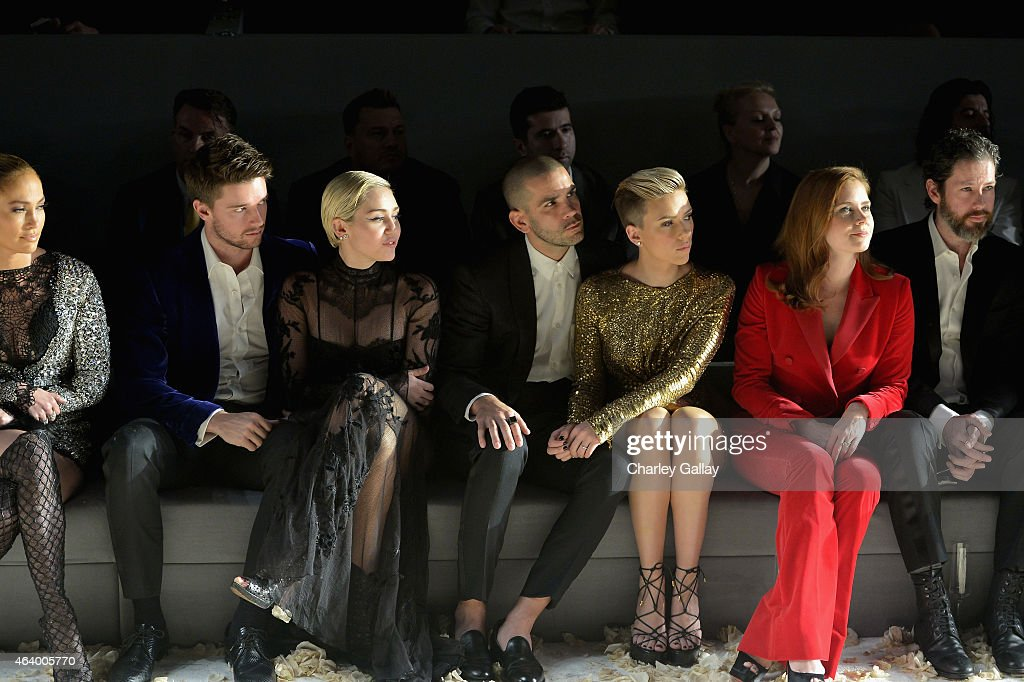 Actress/recording artist Jennifer Lopez model/actor Patrick Schwarzenegger recording artist Miley Cyrus journalist Romain Dauriac actress Scarlett...