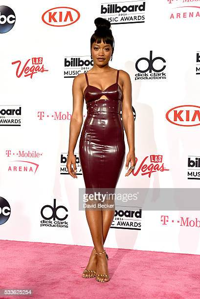 Actress/recording artist Keke Palmer poses in the press room during the 2016 Billboard Music Awards at TMobile Arena on May 22 2016 in Las Vegas...
