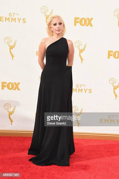 Actress/recording artist Lady Gaga attends the 67th Annual Primetime Emmy Awards at Microsoft Theater on September 20 2015 in Los Angeles California