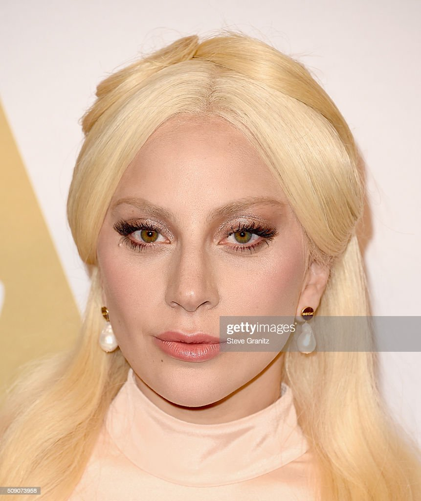 Actress/recording artist <a gi-track='captionPersonalityLinkClicked' href=/galleries/search?phrase=Lady+Gaga&family=editorial&specificpeople=4456754 ng-click='$event.stopPropagation()'>Lady Gaga</a> attends the 88th Annual Academy Awards nominee luncheon on February 8, 2016 in Beverly Hills, California.