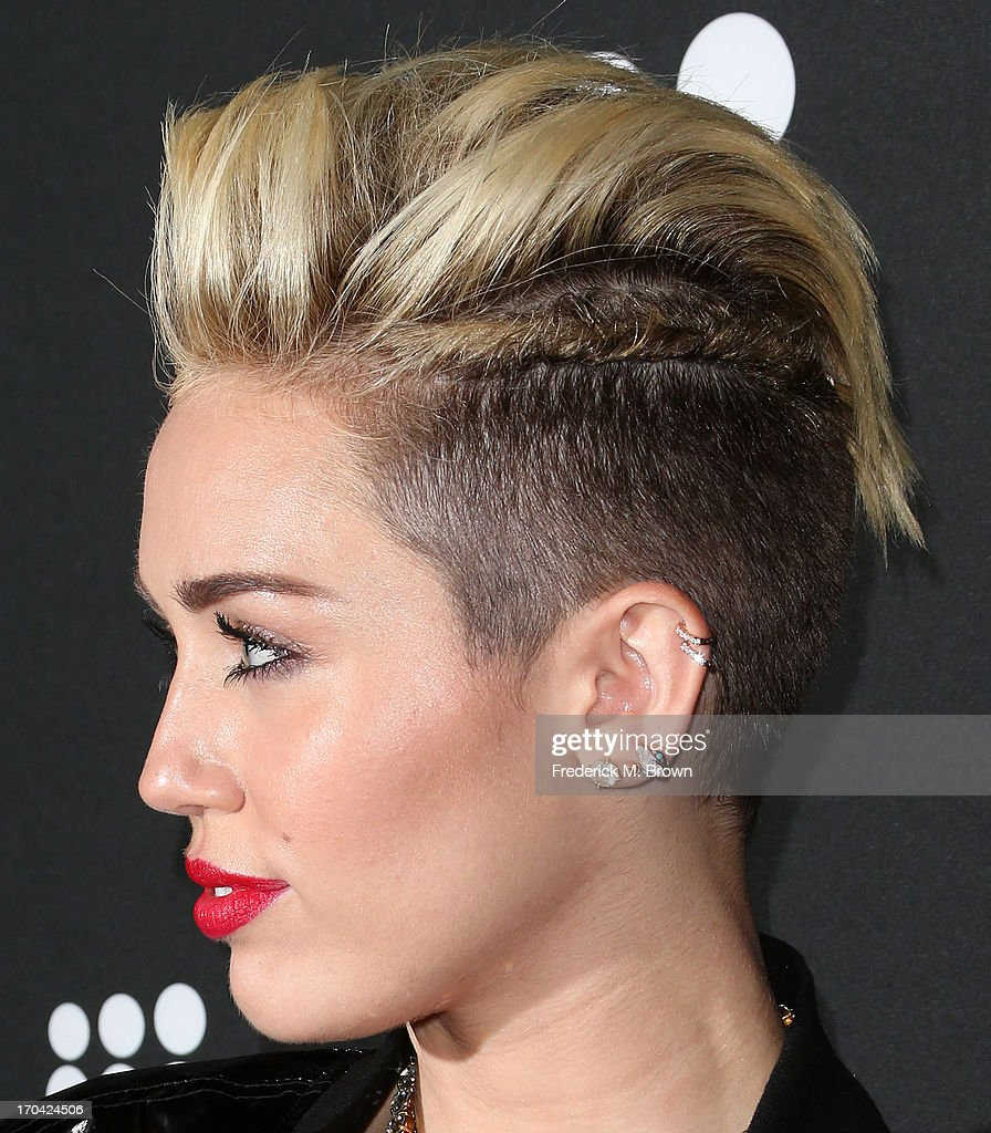 Actress/recording artist Miley Cyrus attends the Myspace Event at the El Rey Theatre on June 12, 2013 in Los Angeles, California.