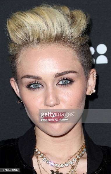 Actress/recording artist Miley Cyrus attends the Myspace Event at the El Rey Theatre on June 12 2013 in Los Angeles California