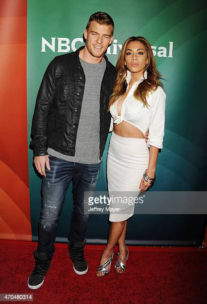 Actress/recording artist Nicole Scherzinger and actor Alan Ritchson attend the 2015 NBCUniversal Summer Press Day held at the The Langham Huntington...