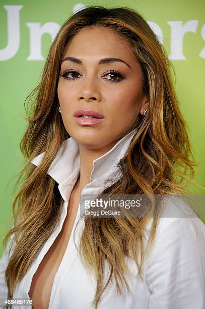 Actress/recording artist Nicole Scherzinger arrives at the 2015 NBCUniversal Summer Press Day at The Langham Huntington Hotel and Spa on April 2 2015...