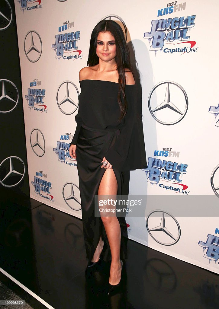 Actress/recording artist Selena Gomez attends 102.7 KIIS FM's Jingle Ball 2015 Presented by Capital One at STAPLES CENTER on December 4, 2015 in Los Angeles, California.