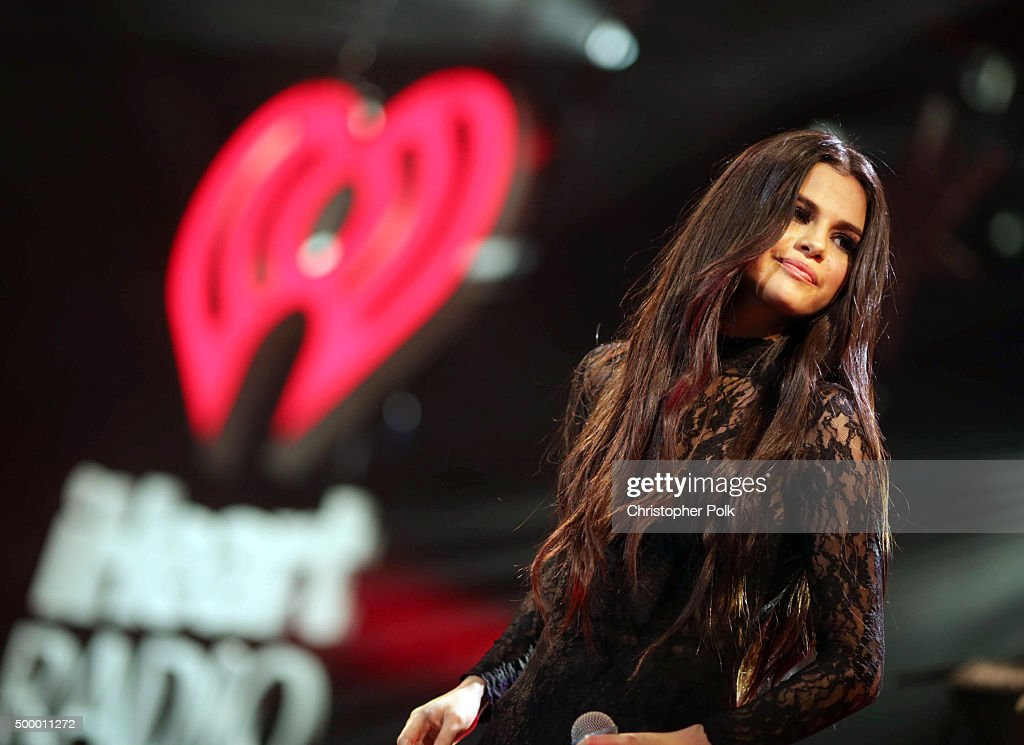 Actress/recording artist <a gi-track='captionPersonalityLinkClicked' href=/galleries/search?phrase=Selena+Gomez&family=editorial&specificpeople=4295969 ng-click='$event.stopPropagation()'>Selena Gomez</a> performs onstage during 102.7 KIIS FM's Jingle Ball 2015 Presented by Capital One at STAPLES CENTER on December 4, 2015 in Los Angeles, California.