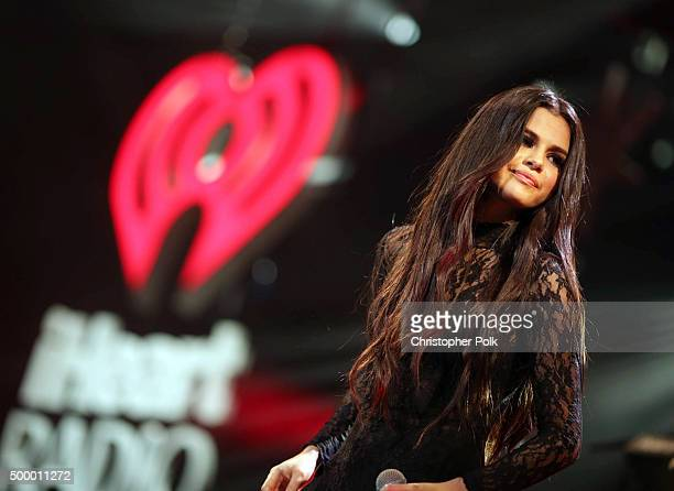 Actress/recording artist Selena Gomez performs onstage during 1027 KIIS FM's Jingle Ball 2015 Presented by Capital One at STAPLES CENTER on December...