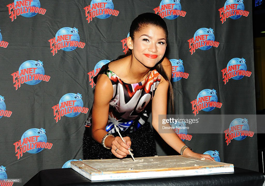 Actress/recording artist Zendaya attends her Planet Hollywood hand print ceremony at Planet Hollywood Times Square on July 15, 2013 in New York City.