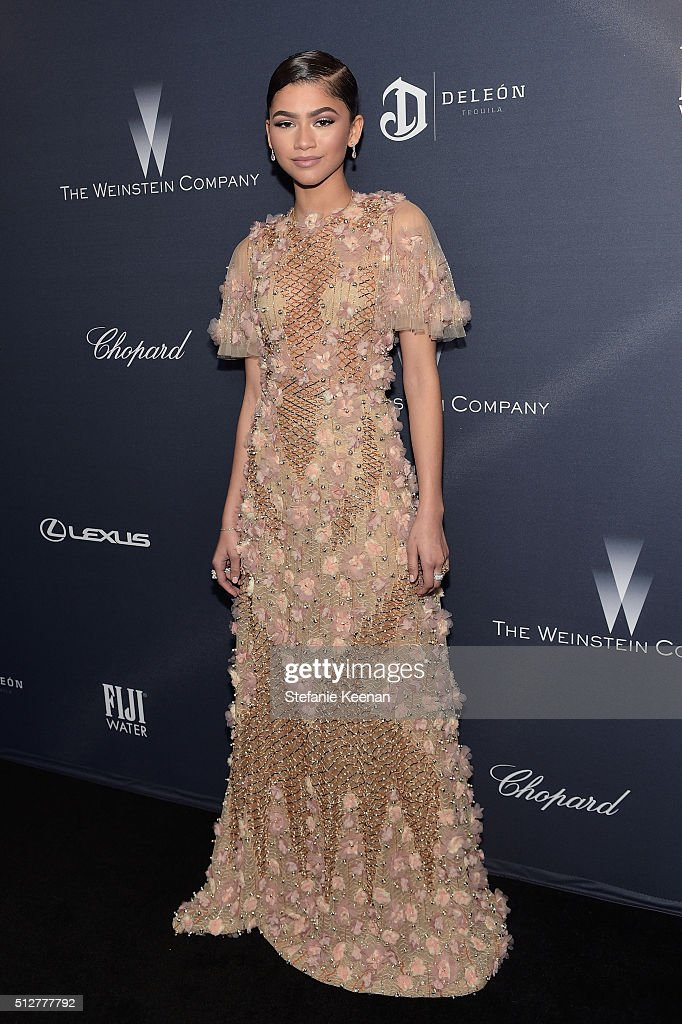 Actress/recording artist Zendaya attends The Weinstein Company's PreOscar Dinner presented in partnership with FIJI Water Chopard DeLeon and Lexus at...