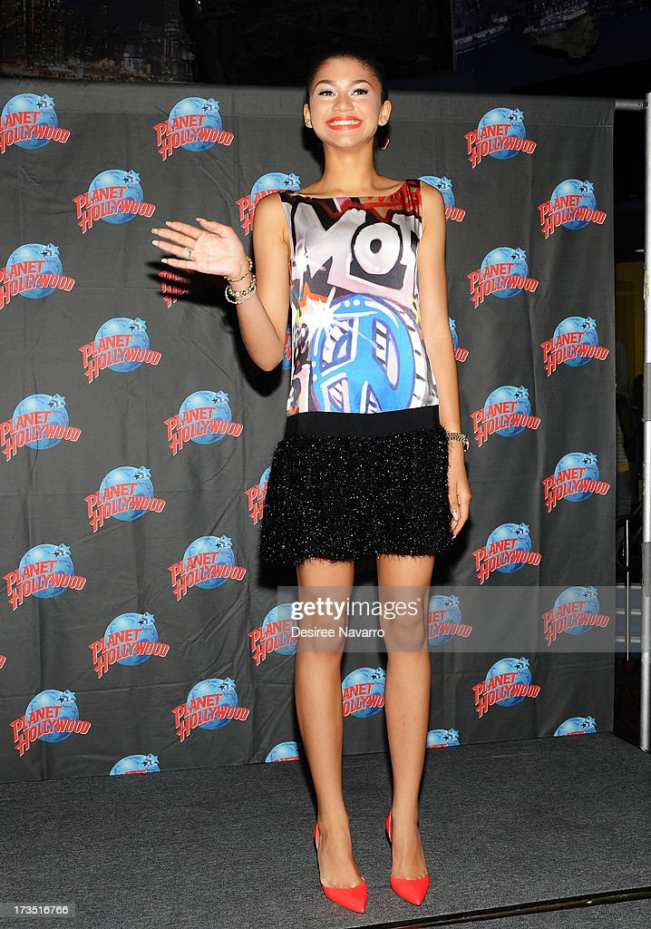 Actress/Recording Artist Zendaya attends the Zendaya Planet Hollywood Hand Print Ceremony at Planet Hollywood Times Square on July 15, 2013 in New York City.