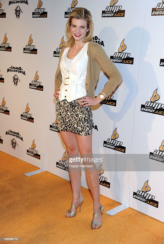 Actresss Angel McCord arrives at the David Arquette Presents Beacher's Madhouse Screening Of 'The Legend Of Hallowdega' at the The Roosevelt Hotel on October 29, 2010 in Hollywood, California.
