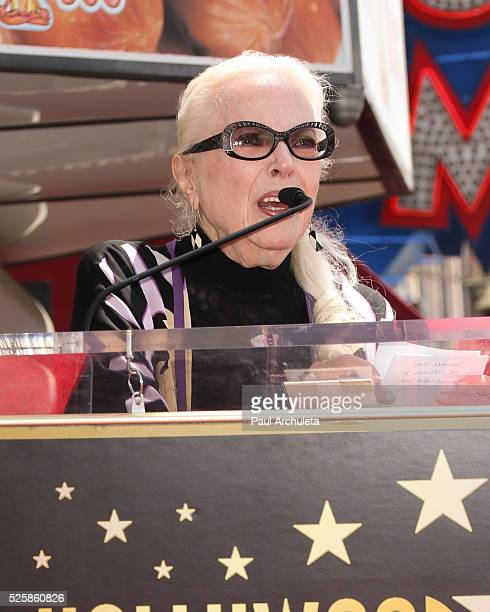 Actresss Barbara Bain attends the ceremony to honor Barbara Bain with a Star on The Hollywood Walk Of Fame on April 28 2016 in Hollywood California