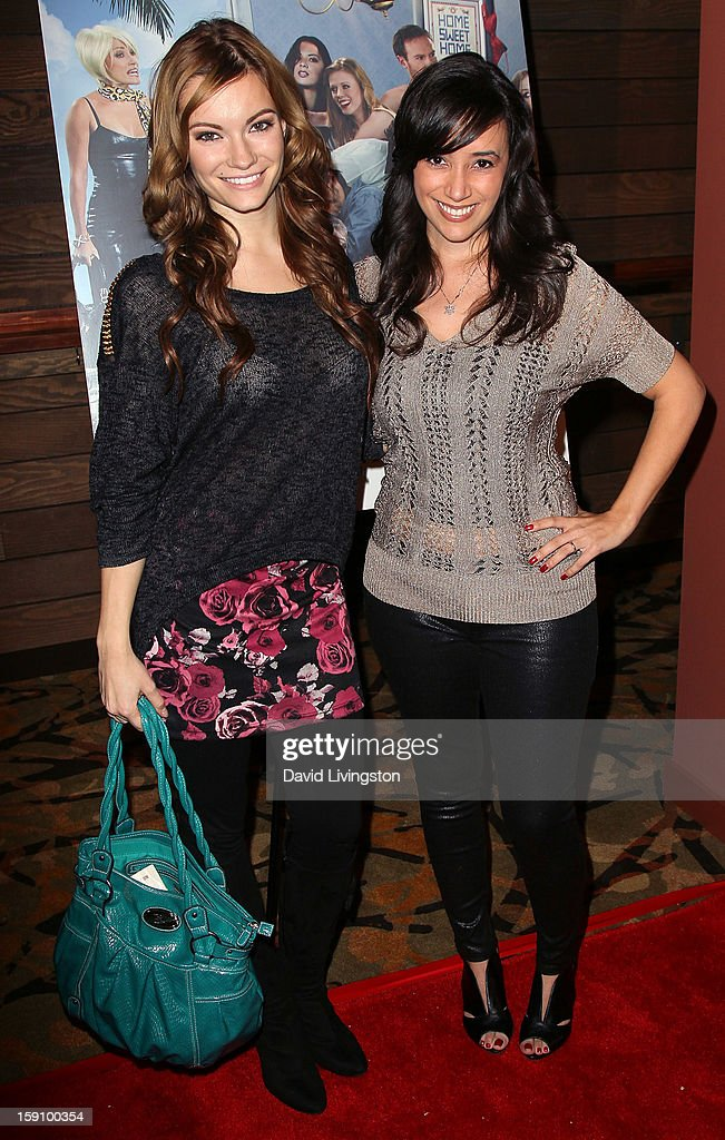 Actresss Caitlin O'Connor (L) and Victoria Cruz attend the premiere of Salient Media's 'Freeloaders' at Sundance Cinema on January 7, 2013 in Los Angeles, California.