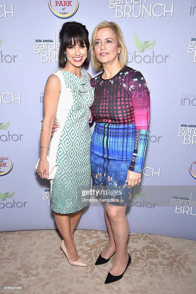 Actresss <a gi-track='captionPersonalityLinkClicked' href=/galleries/search?phrase=Constance+Zimmer&family=editorial&specificpeople=217359 ng-click='$event.stopPropagation()'>Constance Zimmer</a> and Hilary Rosen attend the Garden Brunch prior to the 102nd White House Correspondents' Association Dinner at the Beall-Washington House on April 30, 2016 in Washington, DC.
