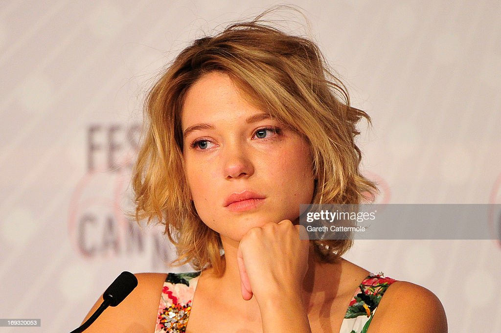 Actresss Lea Seydoux attends the 'La Vie D'Adele' press conference at The 66th Annual Cannes Film Festival at the Palais des Festival on May 23, 2013 in Cannes, France.
