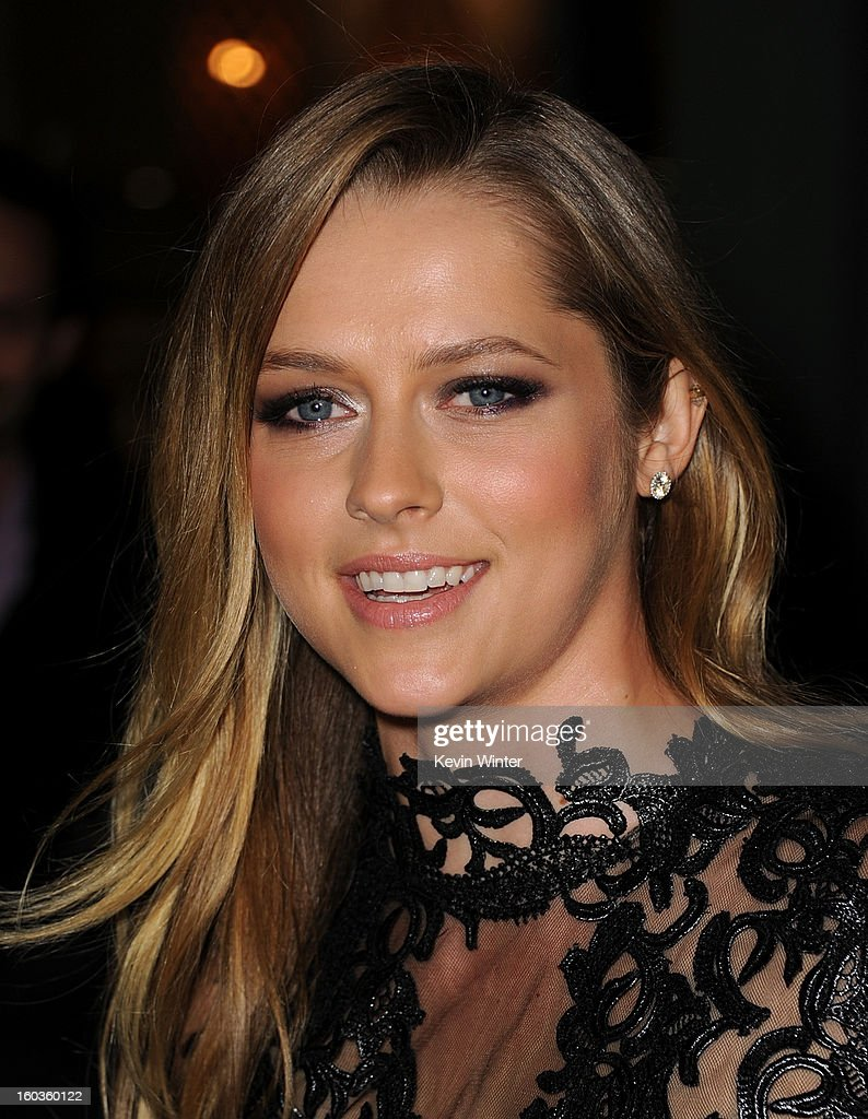 Actresss Teresa Palmer arrives for the Los Angeles premiere of Summit Entertainment's 'Warm Bodies' at ArcLight Cinemas Cinerama Dome on January 29, 2013 in Hollywood, California.