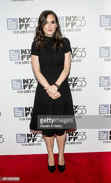 Actresss Winona Ryder attends the 53rd New York Film Festival premiere of 'Experimenter' at Alice Tully Hall on October 6 2015 in New York City
