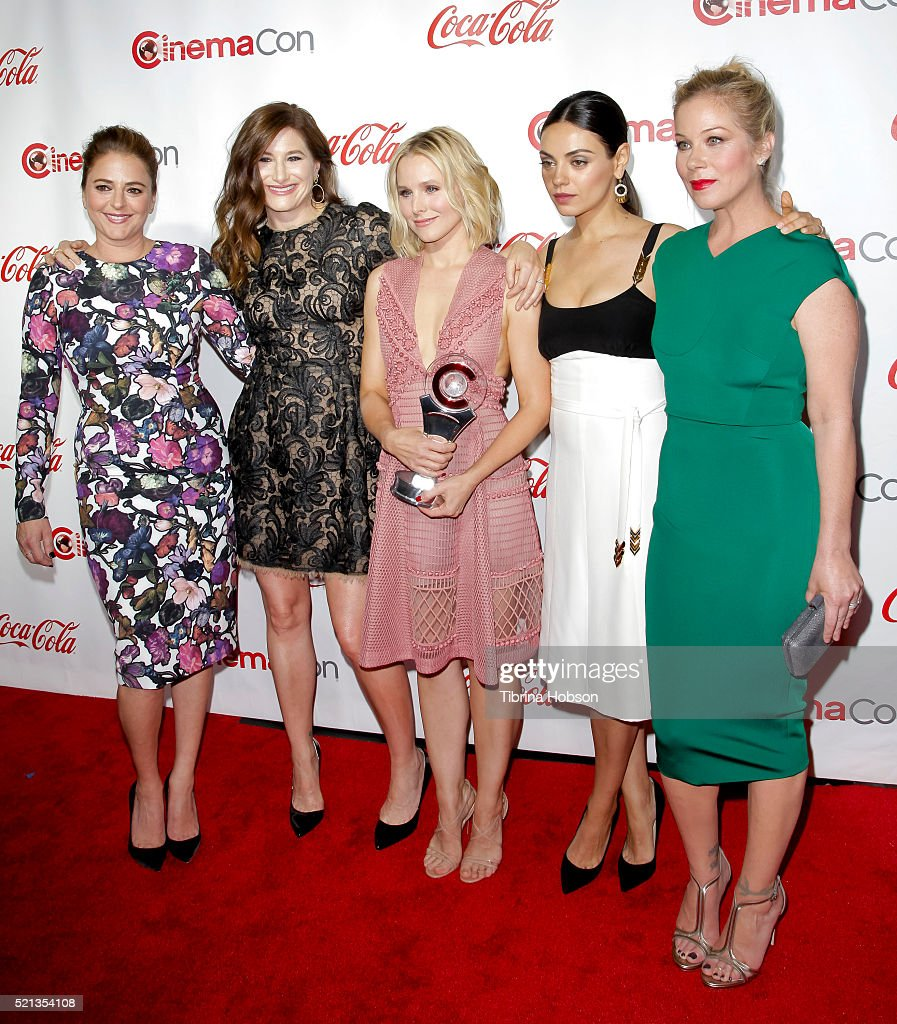 Actress/screenwriter Annie Mumolo actresses Kathryn HahnKristen Bell Mila Kunis and Christina Applegate recipients of the Female Stars of the Year...