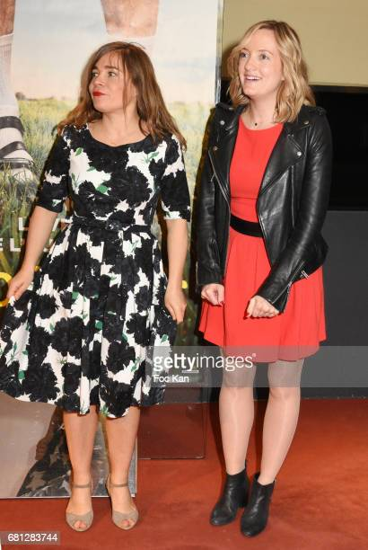 Actress/screenwriter Blanche Gardin and actress Dorothee Pousseo attend 'Problemos' Paris Premiere At UGC Cine Cite Les Halles on May 9 2017 in Paris...